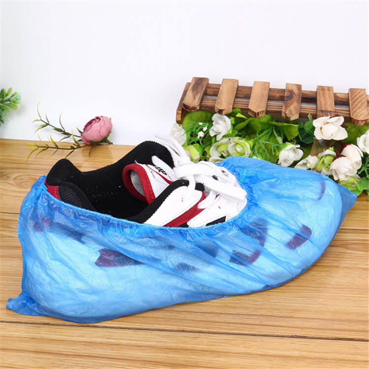 wholesale cleanroom protection blue biodegradable plastic waterproof disposable pe cpe safety shoe cover 01-02