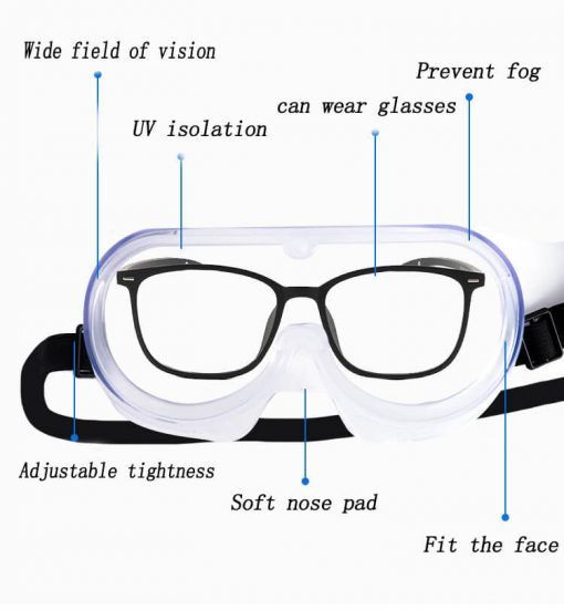 wholesale clear anti-fog design perfect eye glasses protective safety glass protection for lab chemical and workplace safety 01-03