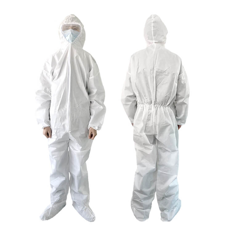 wholesale disposable medical equipment fast shipping hospital full body clothing coverall 01-01