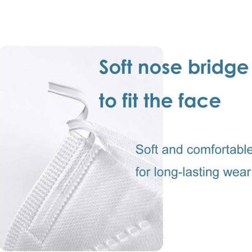 wholesale factory manufacturer kn95 ffp2 pm2.5 earloop filter shield medical surgical n95 face mask 001-04