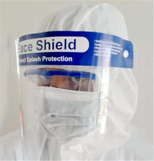 wholesale high quality safety equipment protective anti-fog 32x22cm comfortable fit plastic face shield for public use 01-02